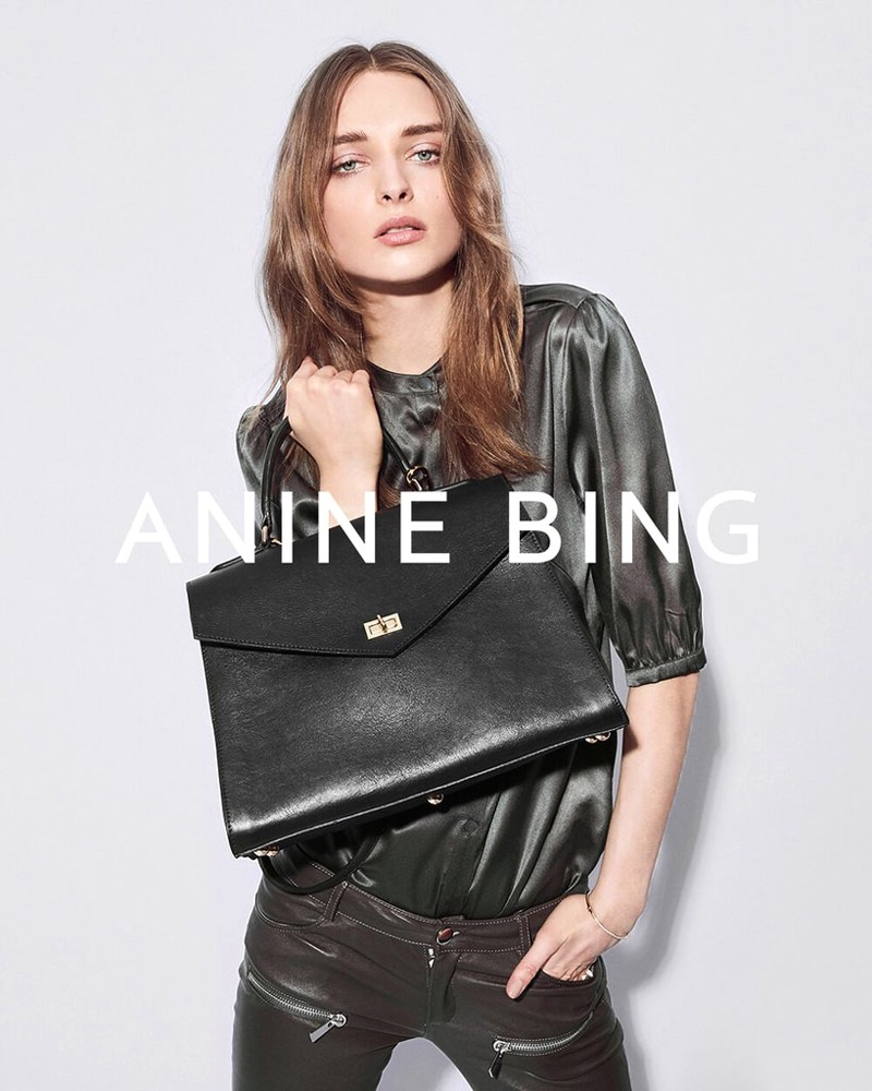 Anine Bing features leather accessories in fall 2016 campaign