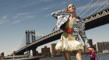 Anja Rubik Wears the Best of the Fall Collections for Bergdorf Goodman