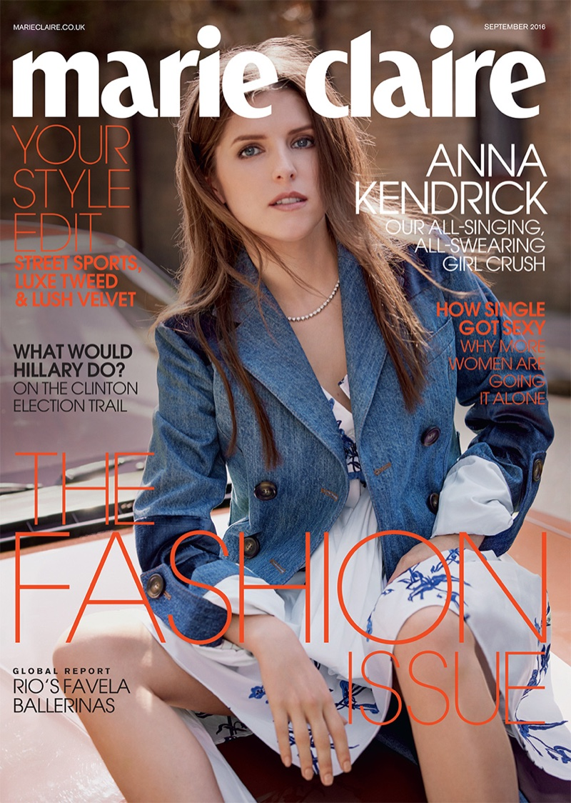 Anna Kendrick on Marie Claire UK September 2016 Cover