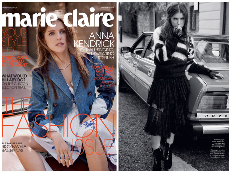 Anna Kendrick is a Fashion Plate in Marie Claire UK