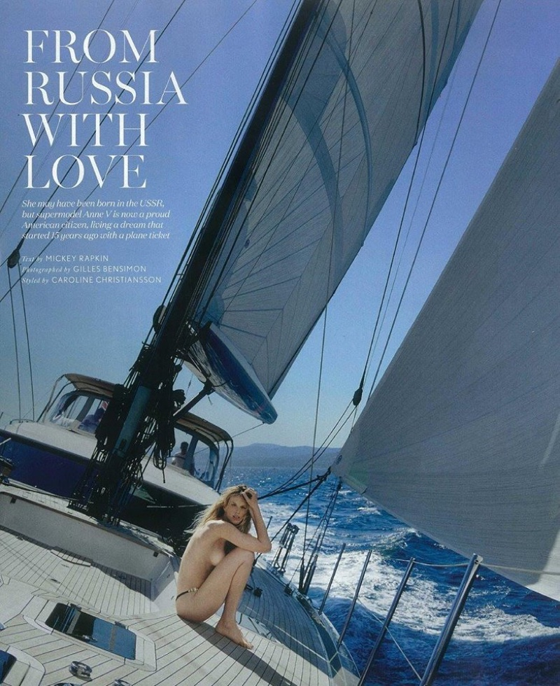 Anne Vyalitsyna hits the high seas for the sexy shoot