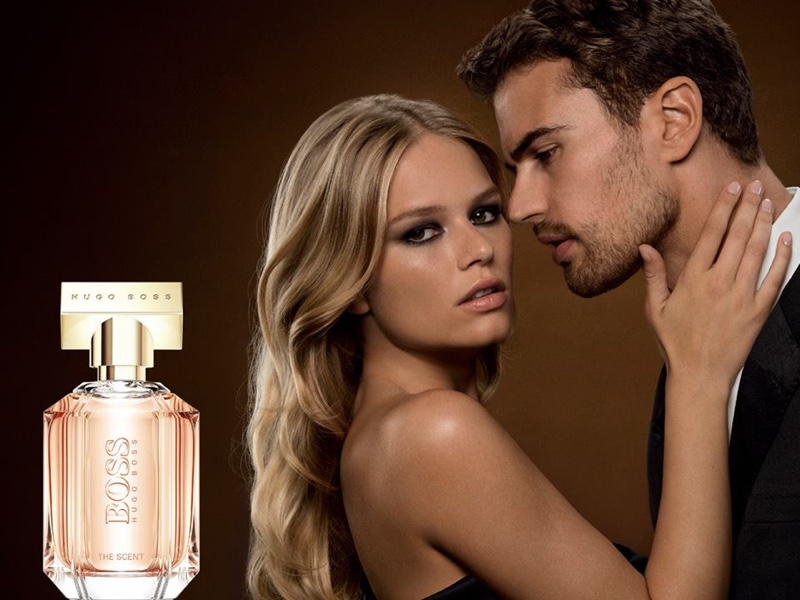BOSS the Scent for Her perfume campaign starring Anna Ewers and Theo James