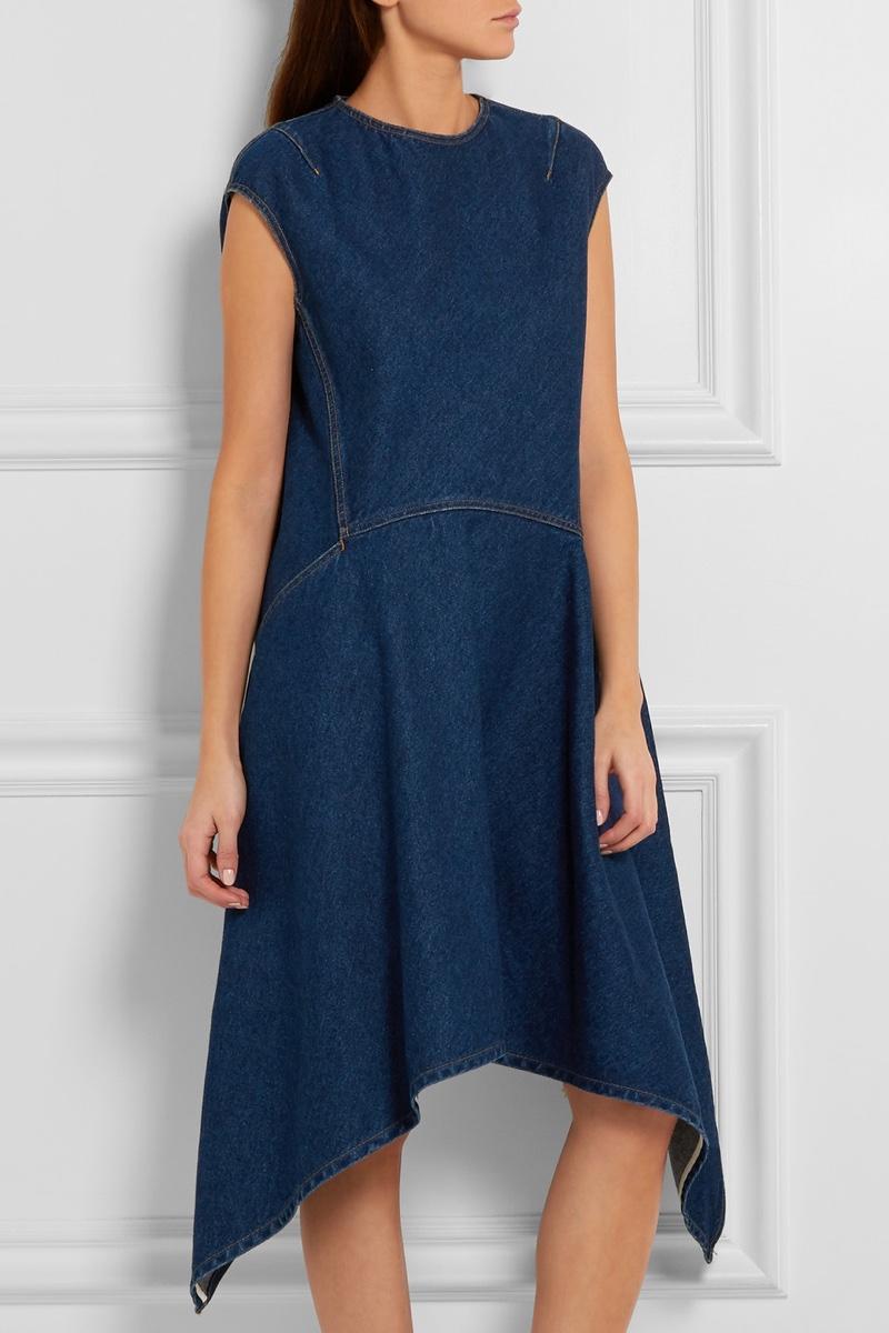 Balenciaga Asymmetric Denim Dress