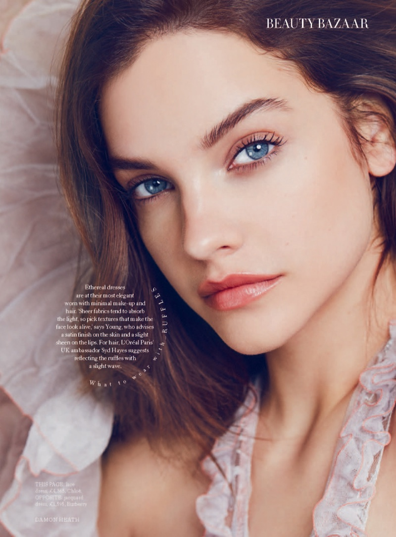 Barbara Palvin models fall beauty trends for the feature