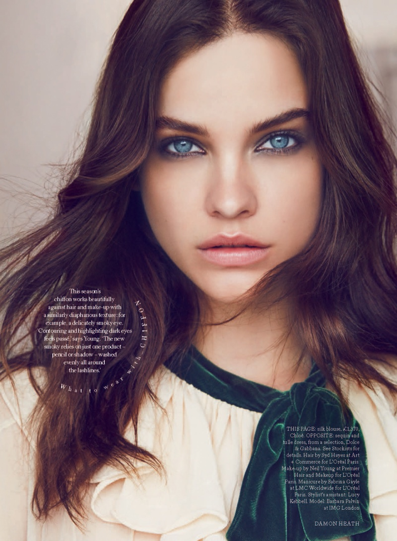 Barbara Palvin Stuns In Fall Beauty Trends For Harper S