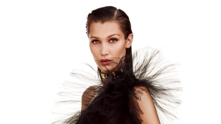 Bella Hadid Stuns in Black Gowns for Vogue Japan Spread