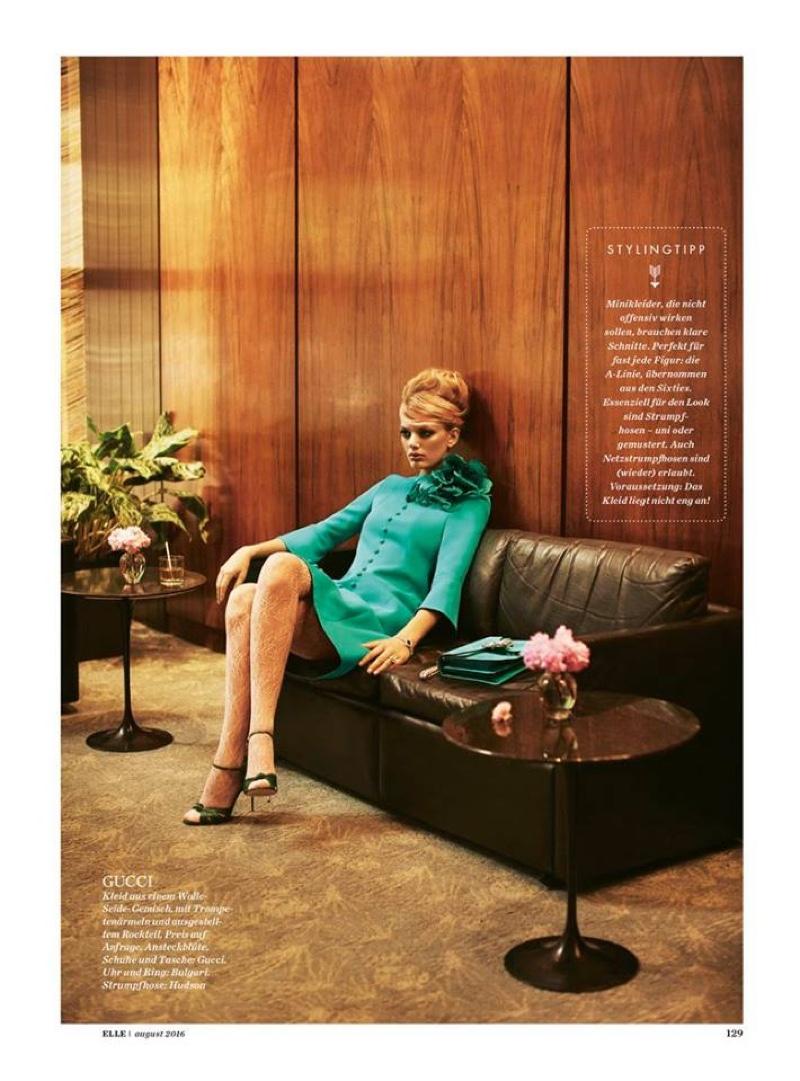 Bregje Heinen wears Gucci dress and heels