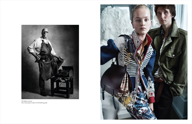 Burberry features buttoned up designs in direct to consumer campaign