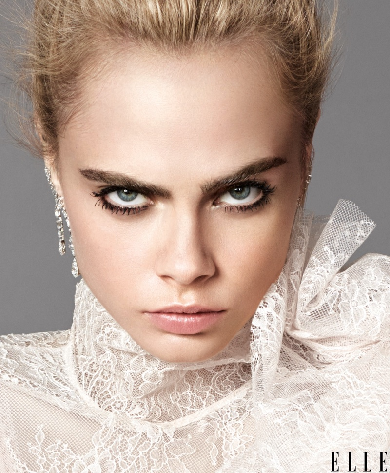 Cara Delevingne wears Victorian inspired lace top