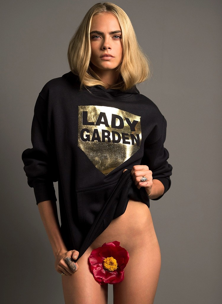 Cara Delevingne poses without pants for Lady Garden campaign for Gynecological Cancer Awareness Month