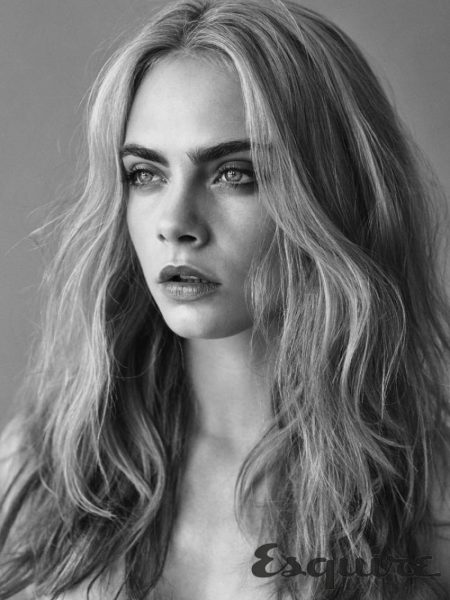 Cara Delevingne wears her hair in tousled waves
