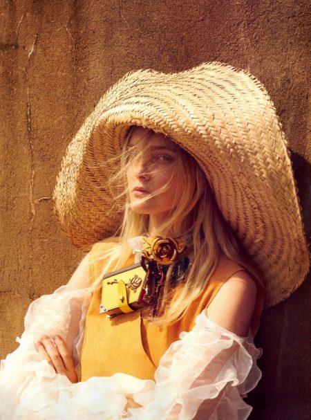 Caroline Trentini Heads Outdoors for Dreamy Vogue Brazil Spread