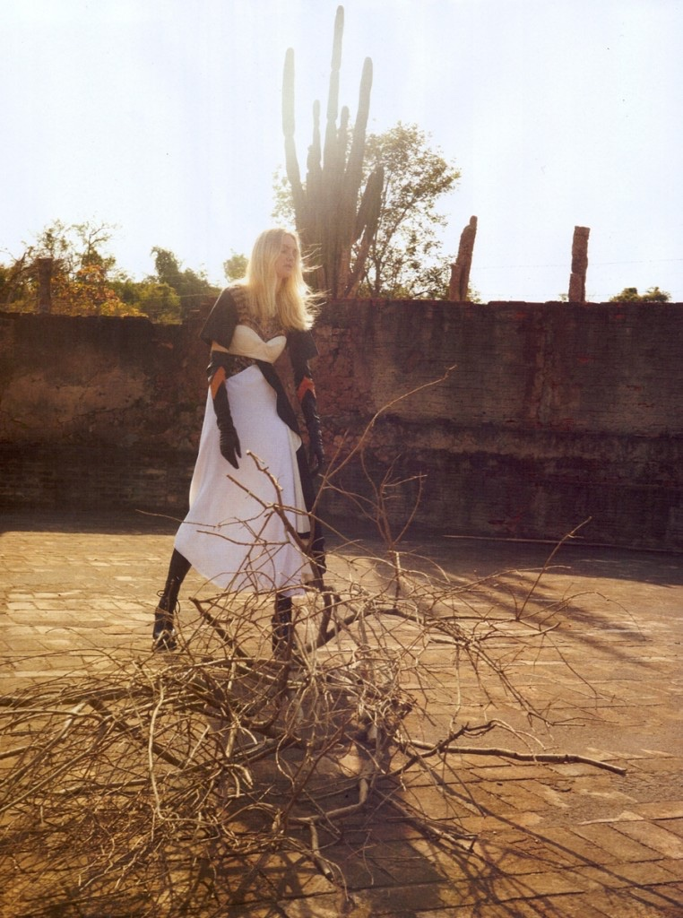 Caroline Trentini serves futuristic vibes in Louis Vuitton fall look