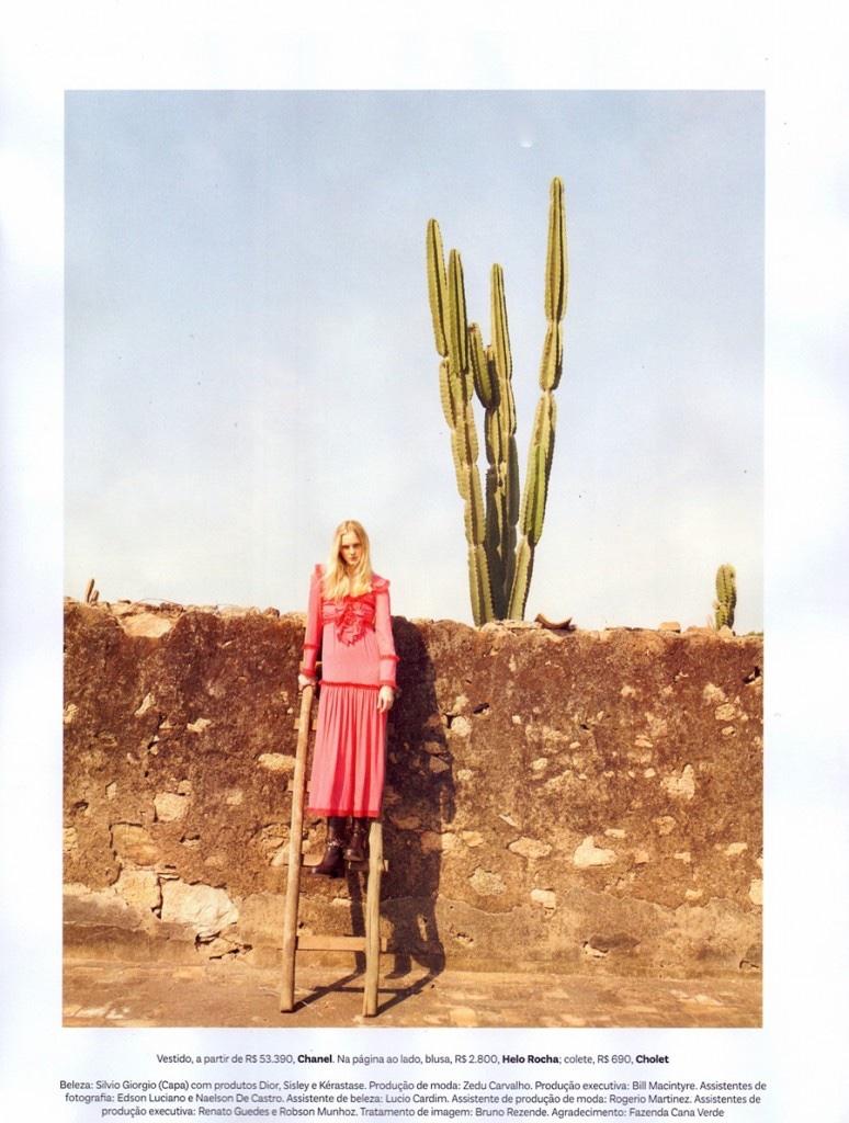 Caroline Trentini models pink Chanel dress