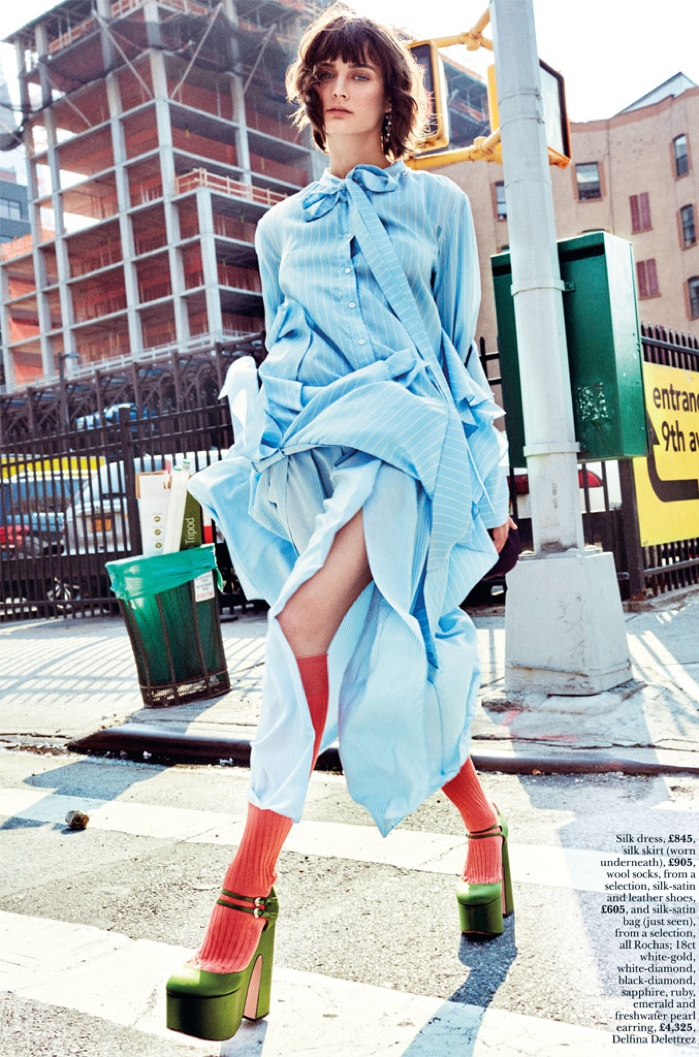 Sibui Nazarenko Models Colorful Street Style for Marie Claire UK