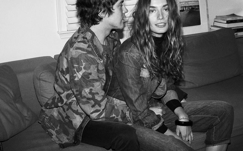Andreea Diaconu and boyfriend Andrew Vanwyngarden star in Current/Elliott's fall-winter 2016 campaign