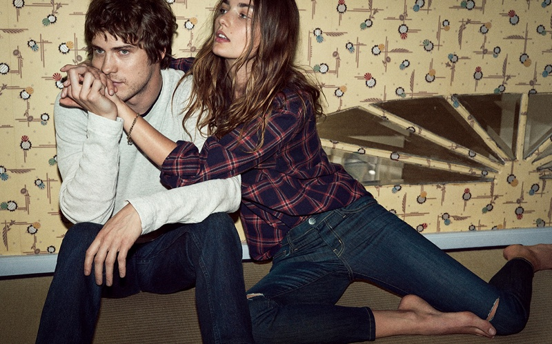 Plaid and knits featured in Current/Elliott's fall 2016 campaign
