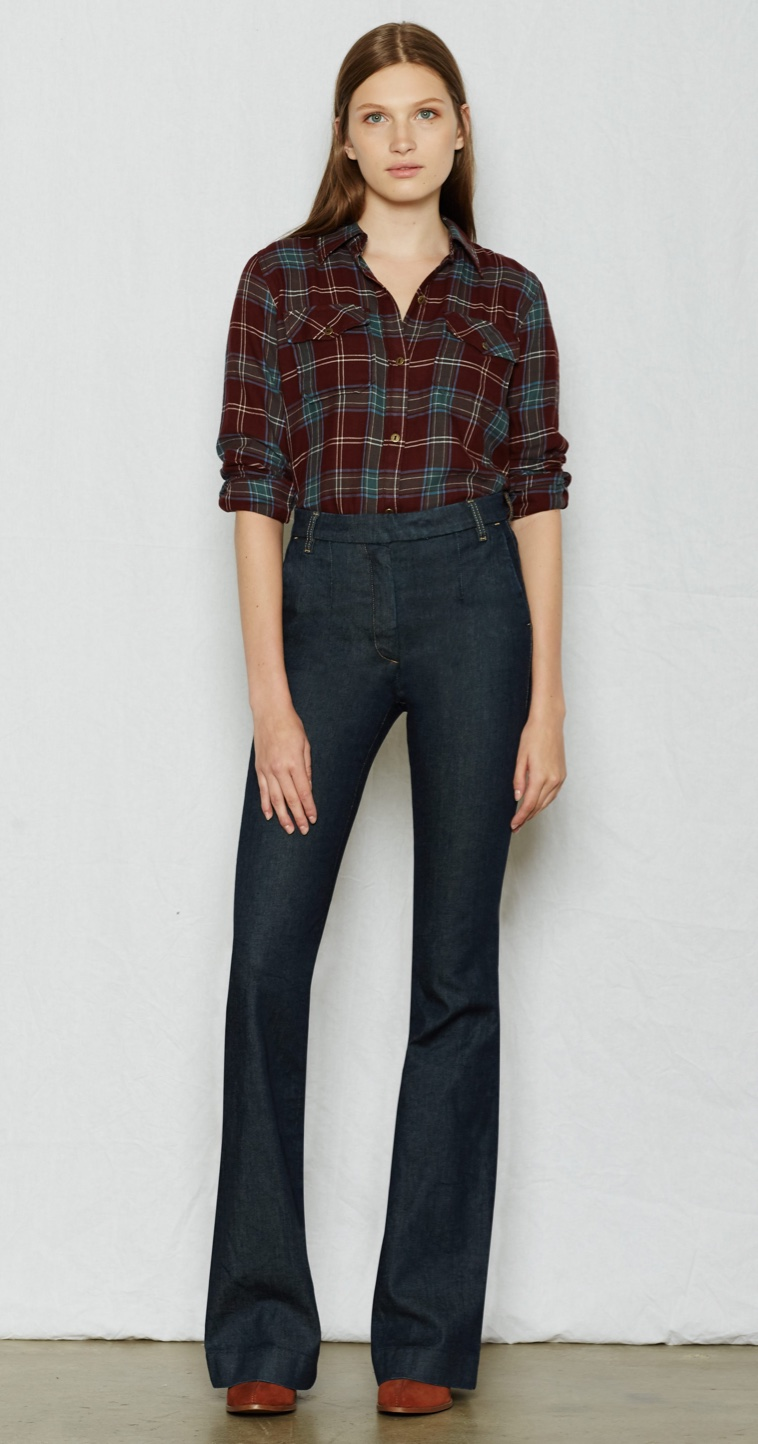 Current/Elliott The High Rise Neat Trouser in Andover