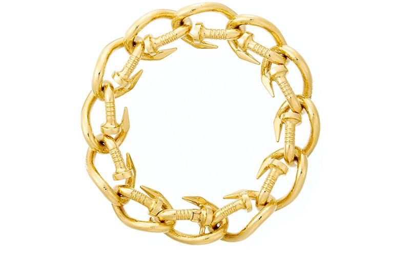 David Webb 18k Polished Nail Link Bracelet