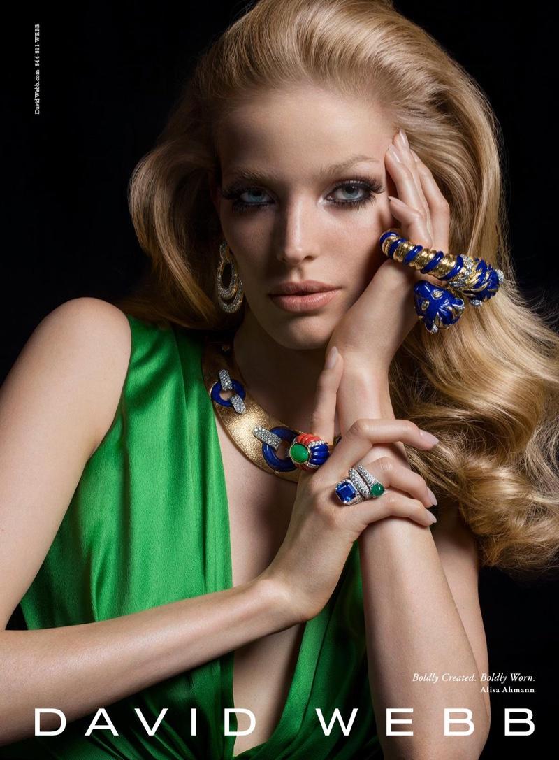 Alisa Ahmann stars in jeweler David Webb's fall-winter 2016 campaign