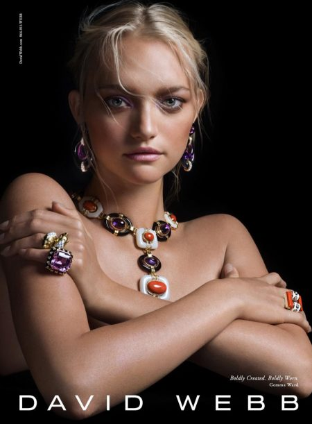 David Webb Taps Gemma Ward, Tali Lennox for its Fall Jewelry Campaign