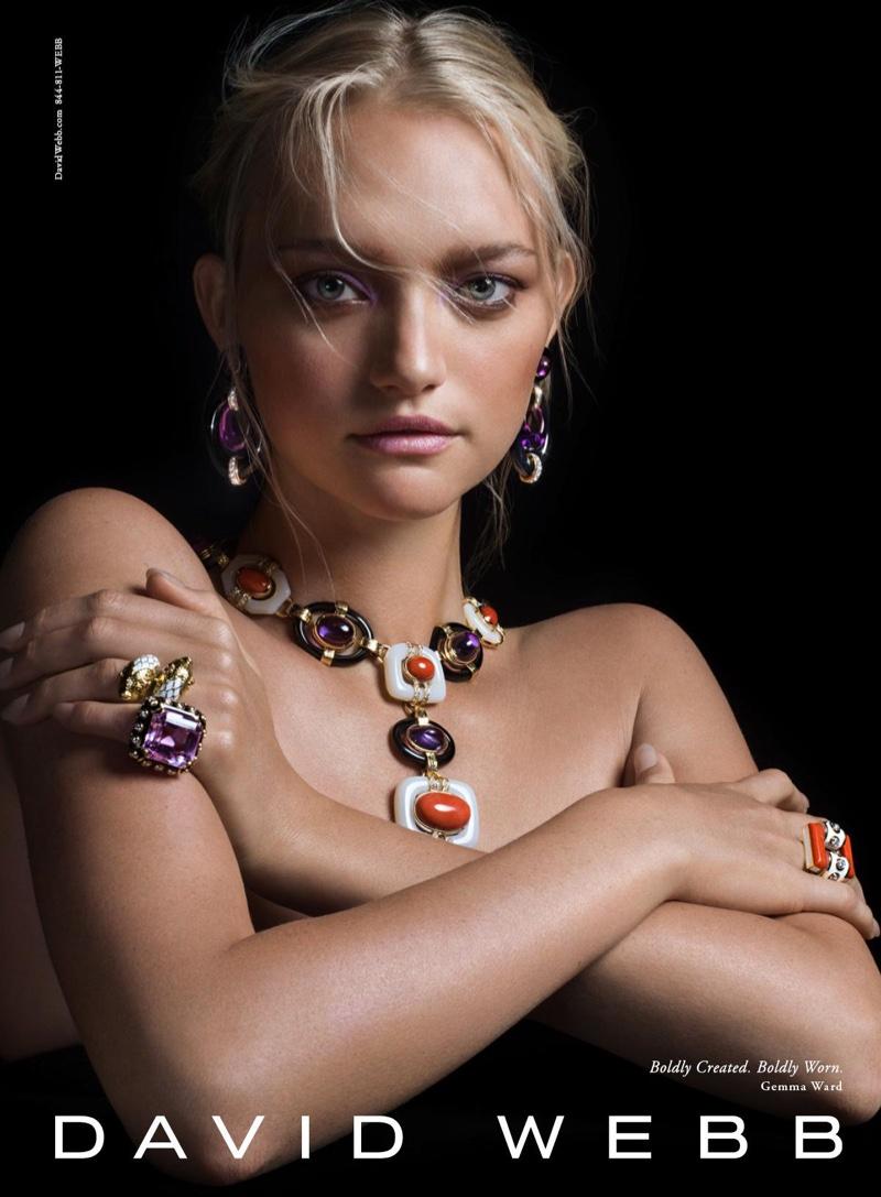 Gemma Ward stars in jeweler David Webb's fall-winter 2016 campaign