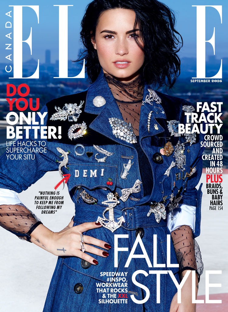 Demi Lovato on ELLE Canada September 2016 Cover