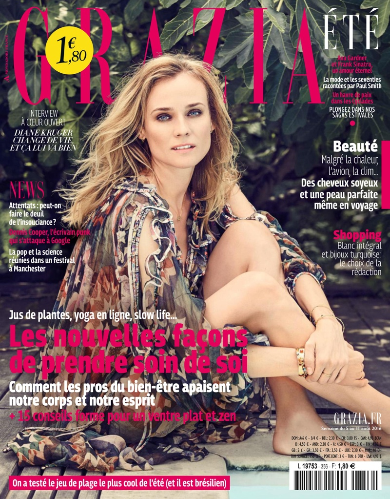 Diane Kruger on Grazia France August 5, 2016 Cover