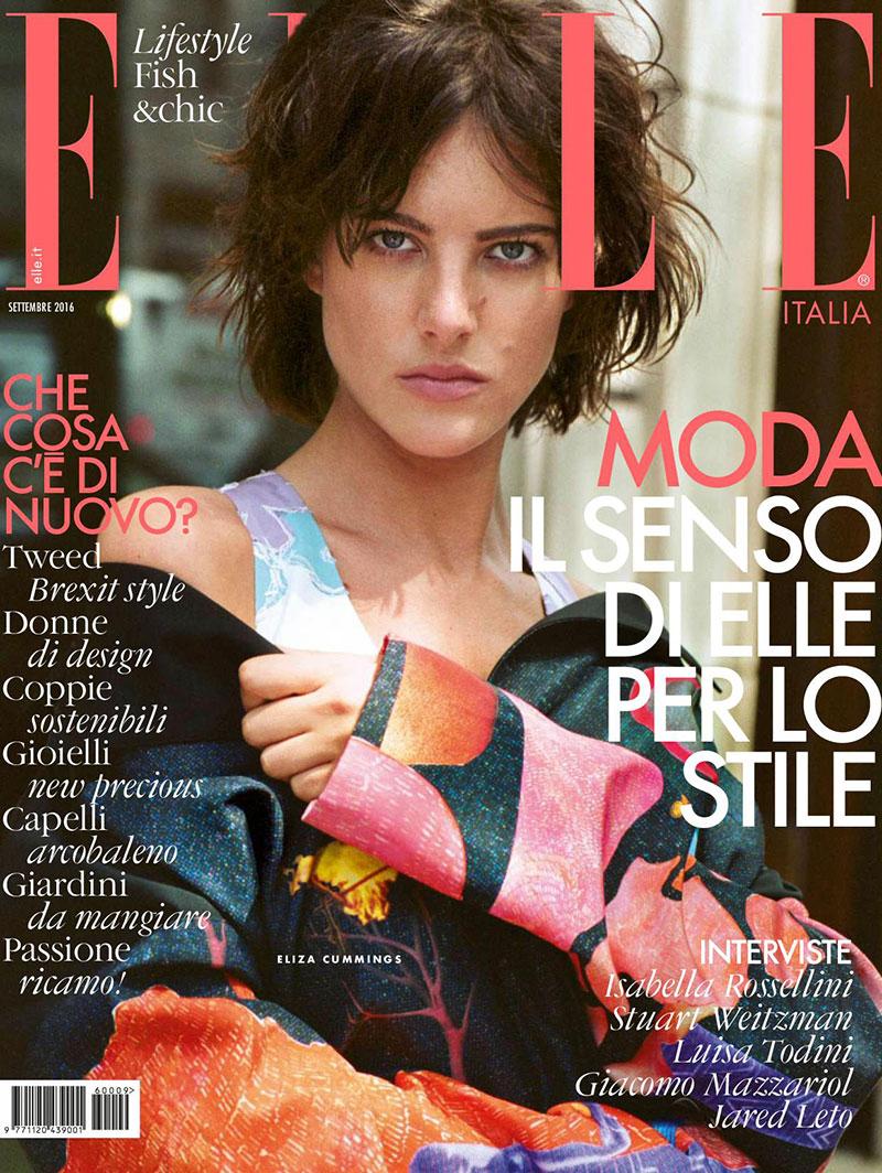 Eliza Cummings on ELLE Italy September 2016 Cover
