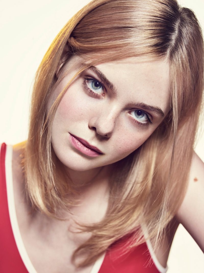 Elle Fanning gets her closeup in the photoshoot
