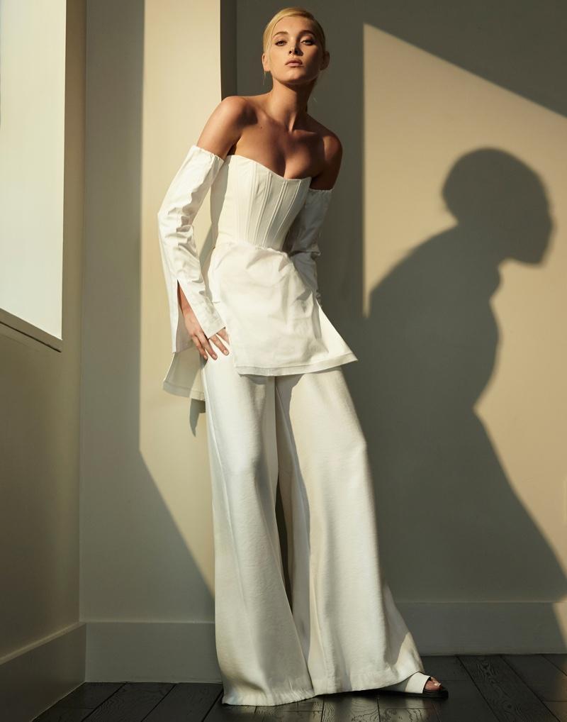 Elsa Hosk stars in Sunday Style's August issue