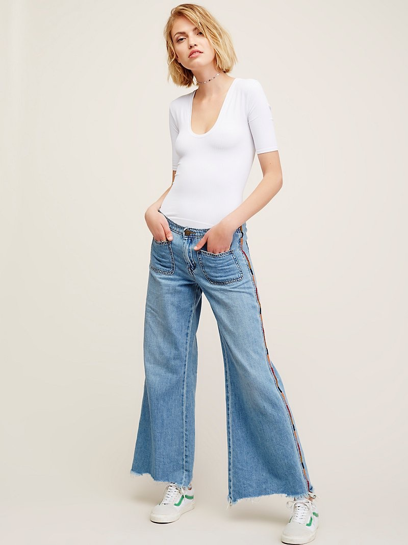 Free People Viola Embroidered Wide Leg $148 (before discount)