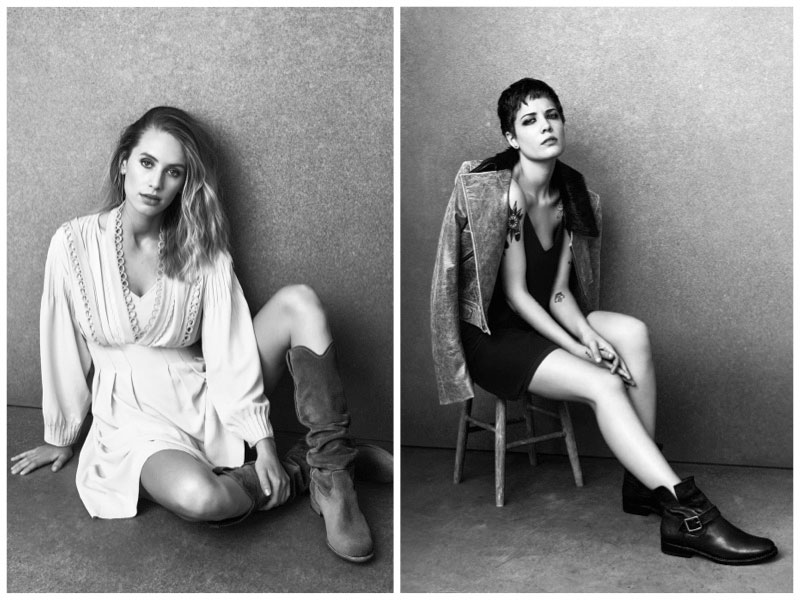 Dylan Penn & Halsey Wear Cool Boots in Frye's Fall 2016 Campaign