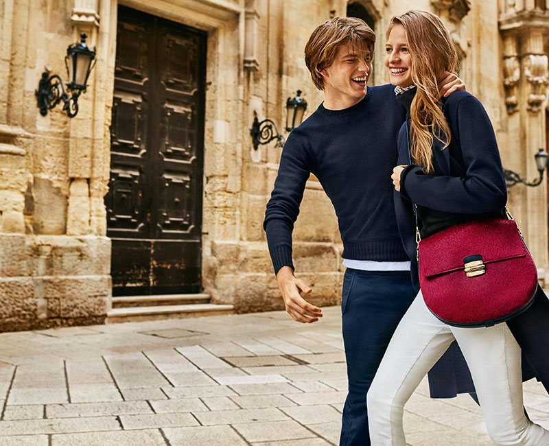 Jordan Barrett and Ine Neefs charm as the stars of Furla's fall-winter 2016 campaign.