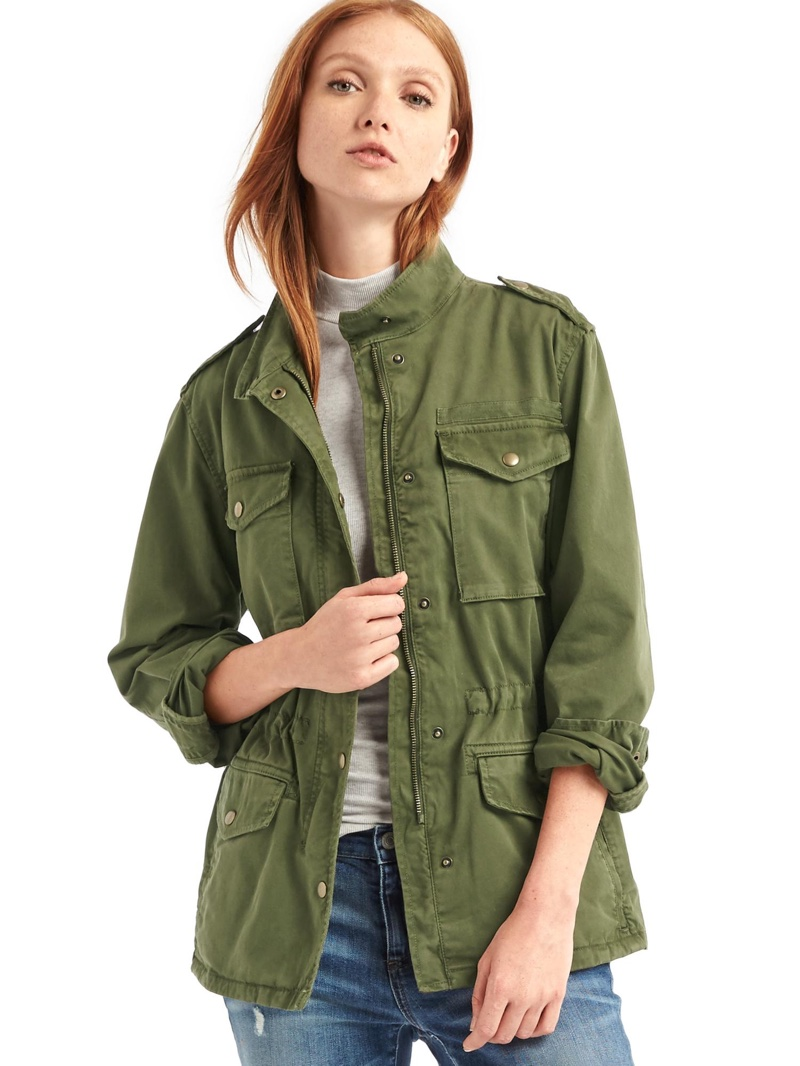 Utility jackets for women