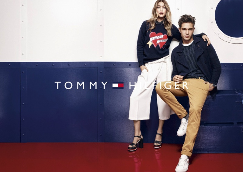 Gigi Hadid and Francisco Lachowski for Tommy Hilfiger fall-winter 2016 campaign