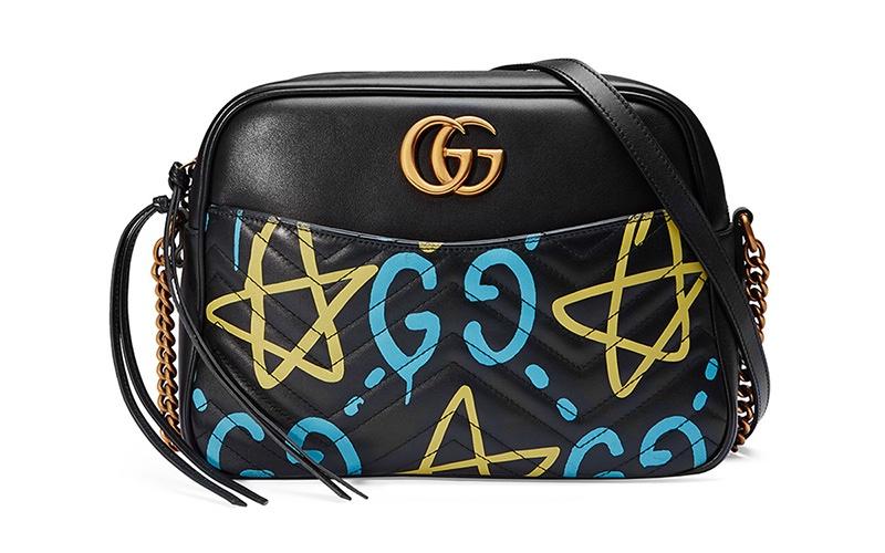 Gucci x GucciGhost Graffiti Print Camera Bag