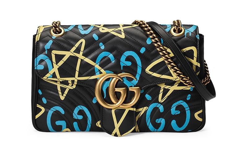 Gucci x GucciGhost Graffiti Print Shoulder Bag