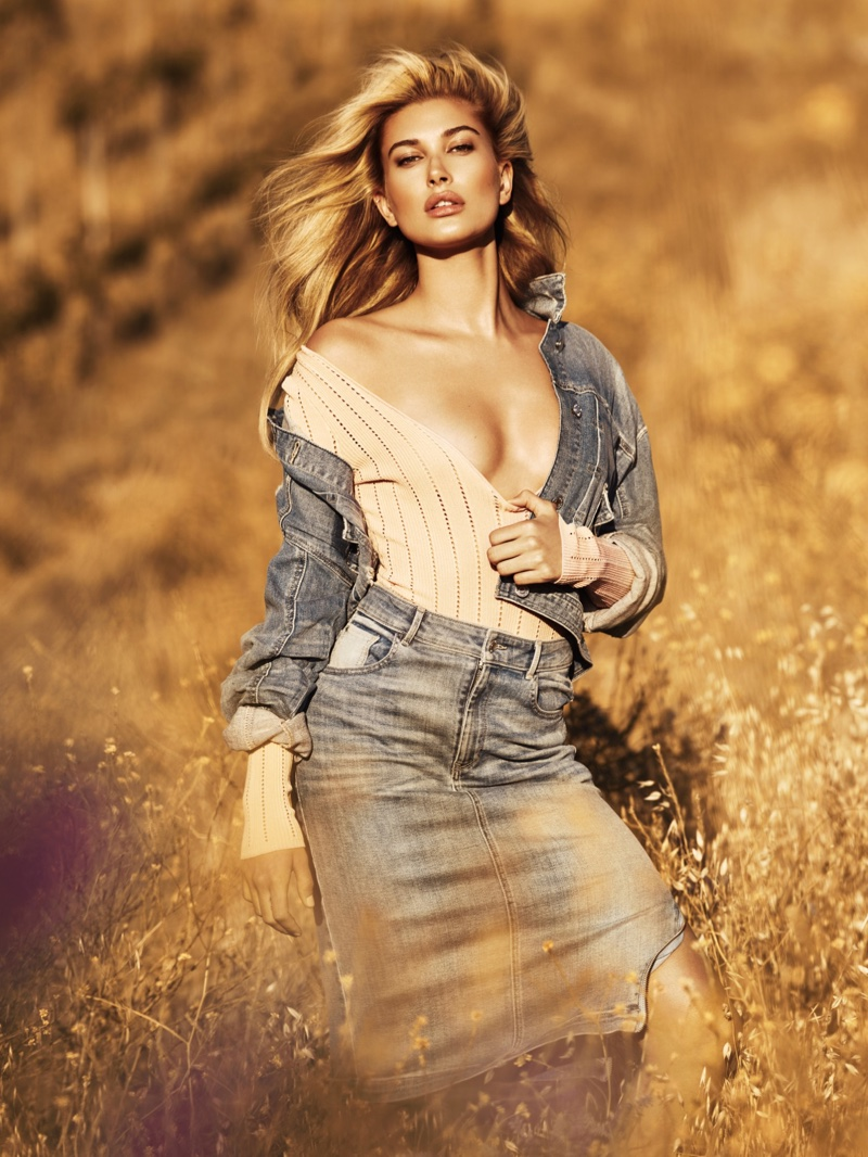 Haley Baldwin embraces denim for Guess Jeans' fall-winter 2016 campaign