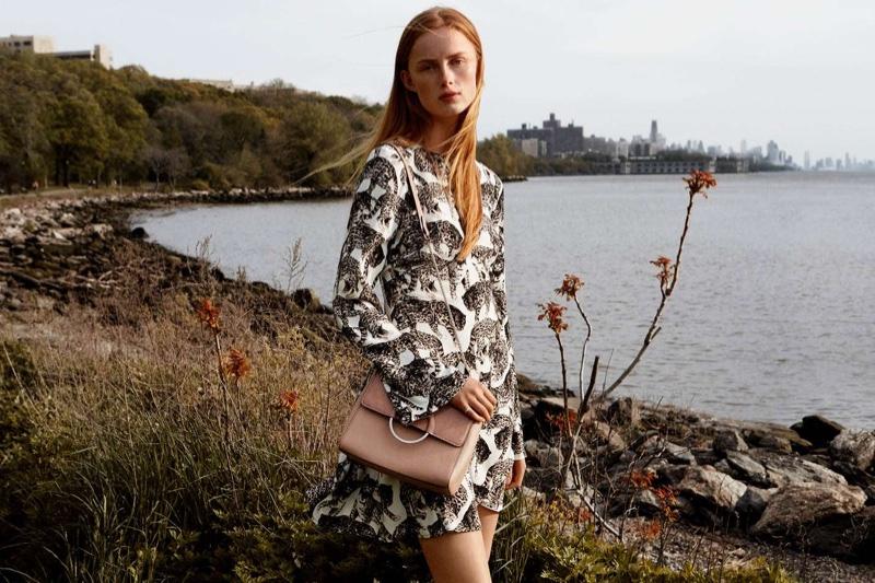 H&M Patterned Dress and Shoulder Bag