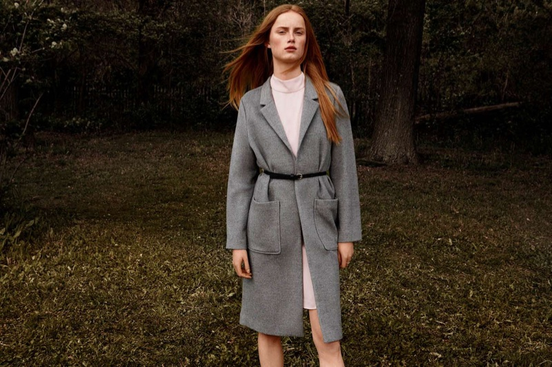 H&M Felted Coat, Sleeveless Dress and Narrow Belts