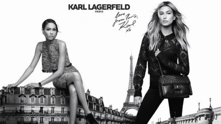 Hailey Baldwin & Joan Smalls Are Parisian Chic in Karl Lagerfeld's Fall Ads