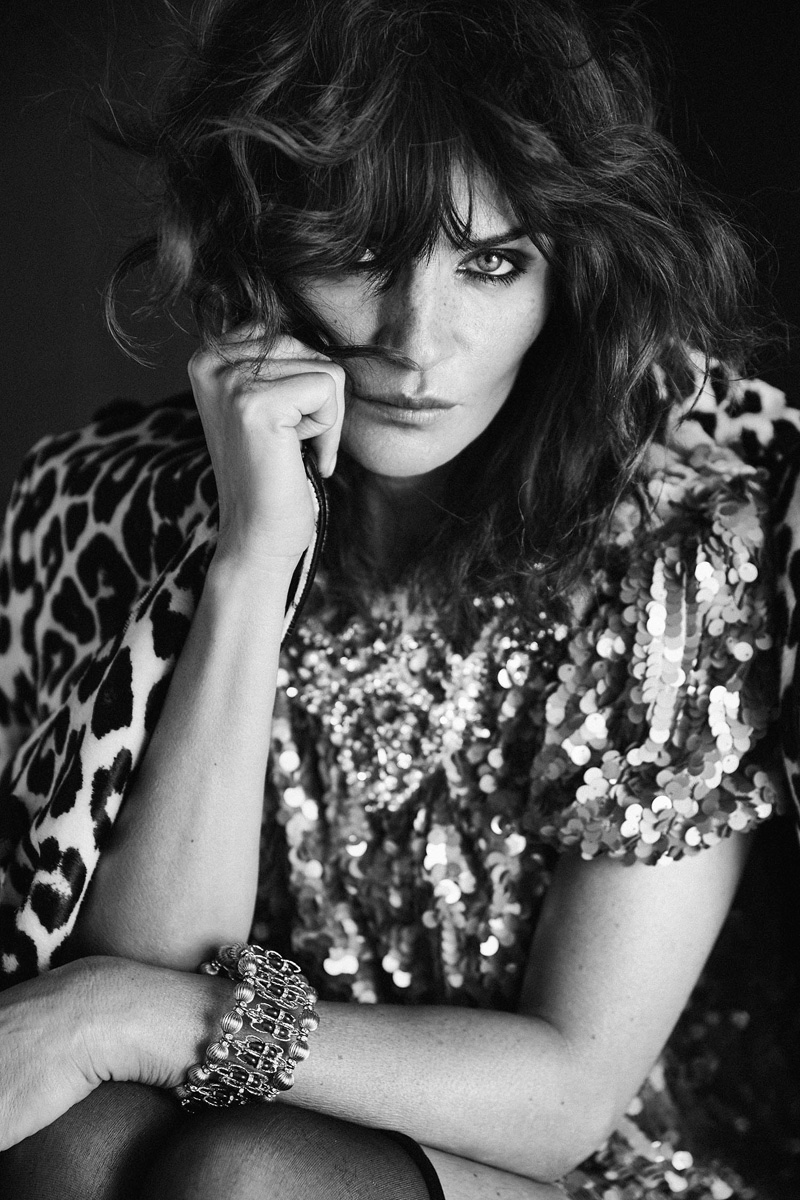 Photographed by An Le, the supermodel poses in black and white