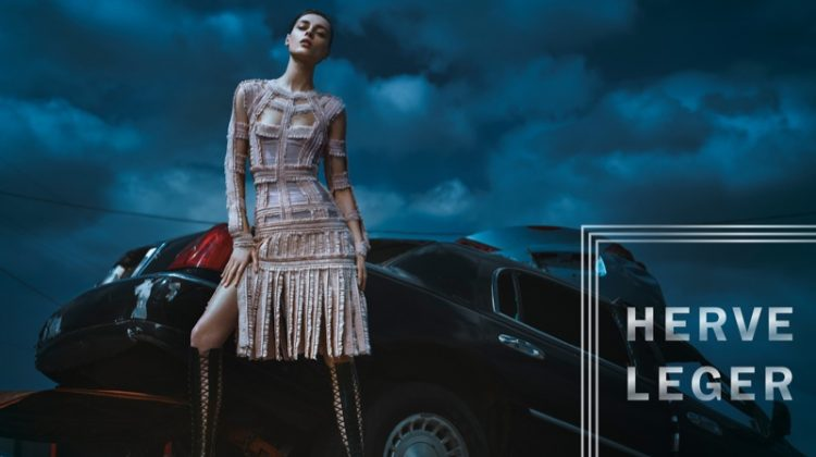 Herve Leger Sets a Junkyard Scene for Fall 2016 Campaign