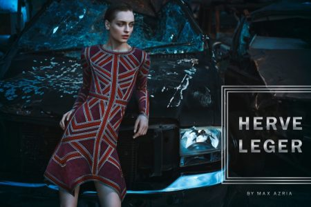 Herve Leger Sets a Junkyard Scene for Fall 2016 Campaign