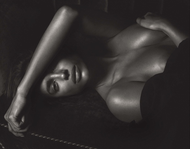 Photographed in black and white, Irina Shayk stuns in the steamy photo session