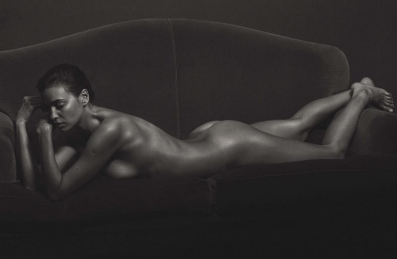 Irina Shayk poses nude for the men's magazine