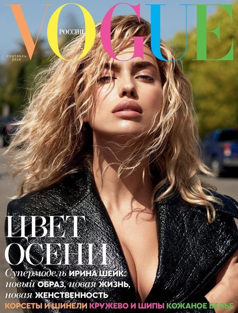 Irina Shayk on Vogue Russia September 2016 Cover