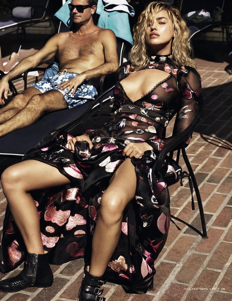 Irina Shayk serves legs for days in Alexander McQueen gown