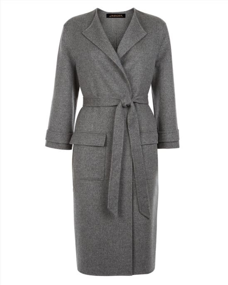 Jaeger London Double Faced Wool Pocket Coat